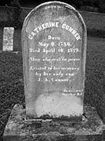 Catharine Conner's Headstone