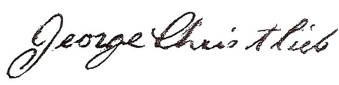 George Christlieb's signature.